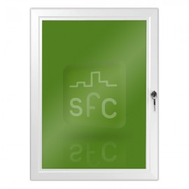 A2 White Lockable Poster Frame